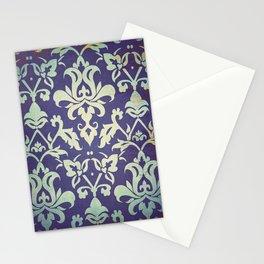 Olden damask pattern Stationery Cards