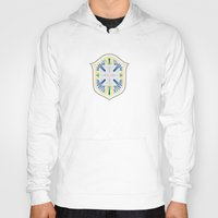 brazil Hoodies featuring Brazil Crest by George Williams