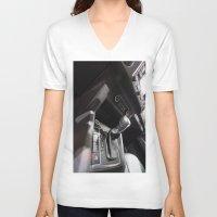 volkswagen V-neck T-shirts featuring Volkswagen Amarok Highline Cambio by Mauricio Santana