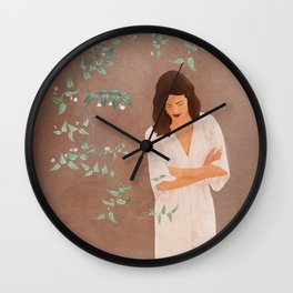Under the Tree Branches Wall Clock