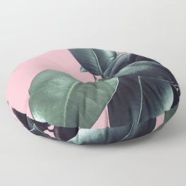 Ficus Elastica #14 #CoralBlush #decor #art #society6 Floor Pillow