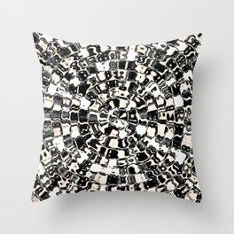 Circular Mosaic Sepias Throw Pillow