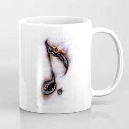 Burning Music Note Coffee Mug