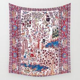 Esfahan Central Persian Silk Rug Print Wall Tapestry