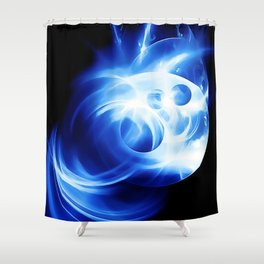 abstract fractals 1x1 reacc80c82 Shower Curtain