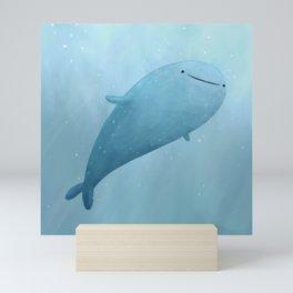 Cute Whale Shark Mini Art Print