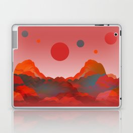 """""""Coral Pink Sci-Fi Mountains"""" Laptop & iPad Skin"""