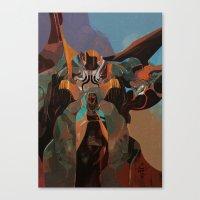 saturn Canvas Prints featuring SATURN by SHZREBELKA