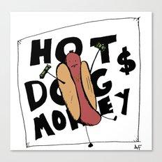Hot Dog Money Canvas Print