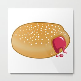 Totally Baked - Jelly Filled Donut Metal Print