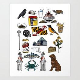 Maryland Flash Sheet - Color Art Print