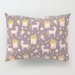 Fairytale Forest Fairy Toadstool House Unicorn Pillow Sham