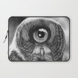 Evolution: Great Gray Owl Laptop Sleeve