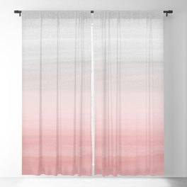 Touching Blush Gray Watercolor Abstract #1 #painting #decor #art #society6 Blackout Curtain