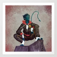 nightcrawler Art Prints featuring Nightcrawler by Carlos Canessa