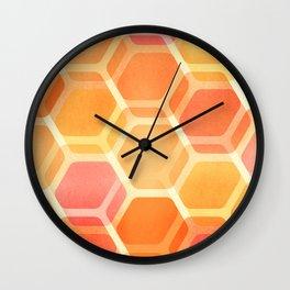 Pastel Hexa Wall Clock