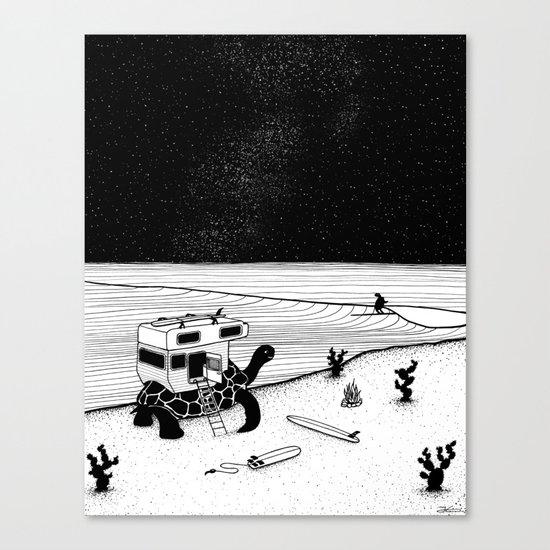 Turtle Surfari Canvas Print