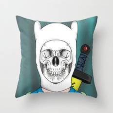 Finnished With Life Clear Throw Pillow