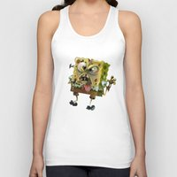 spongebob Tank Tops featuring SpongeBob SquarePants by Tayfun Sezer