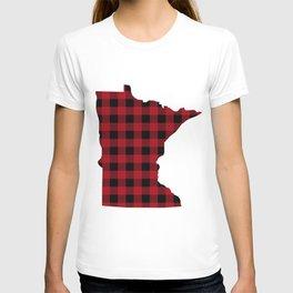 Minnesota - Buffalo Plaid T-shirt
