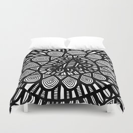 Black and White Doodle 7 Duvet Cover