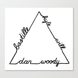 Bastille Triangle Canvas Print