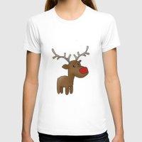 reindeer T-shirts featuring Reindeer by Iotara