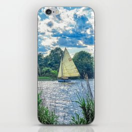 Sailing The River iPhone Skin