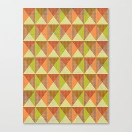 Triangle Diamond Grid Canvas Print