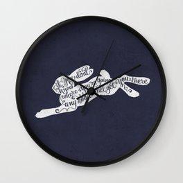 Alice in wonderland - navy Wall Clock