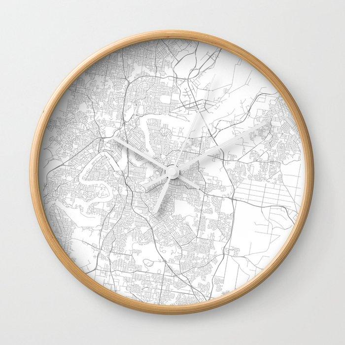 Brisbane, Australia Minimalist Map Wall Clock by resfeber | Society6