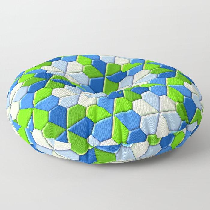 Blues & Greens Floor Pillow