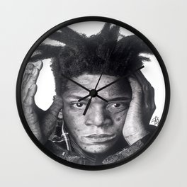 Jean-Michel Basquiat Drawing Wall Clock