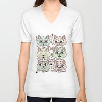 kittens V-neck T-shirts featuring Kittens by Artificial primate
