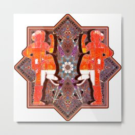 Orange Tai Chi Practice Metal Print