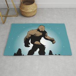 Bigfoot Silhouette Illustration. Rug