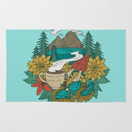 Pacific Northwest Coffee and Nature Rug