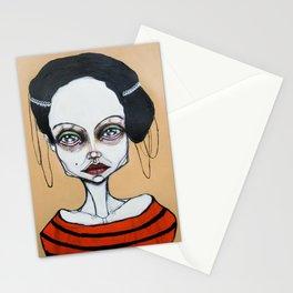 black orange stripes Stationery Cards