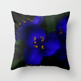 ultraviolet spider Throw Pillow