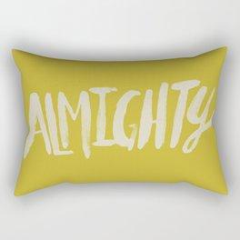 Almighty x Mustard Rectangular Pillow
