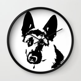 CHRISTMAS GIFTS FOR THE ALSATIAN AND GERMAN SHEPHERD DOG LOVER FOR YOU FROM MONOFACES Wall Clock