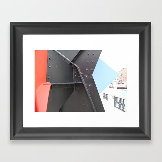 Peggy Guggenheim court yard Framed Art Print