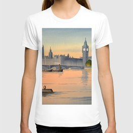 Westminster And Big Ben From The River Thames London T-shirt