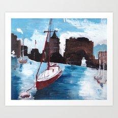 Boston Waters Art Print