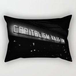 Capitalism Kills Love, Berlin Rectangular Pillow