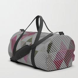 Gray polka dots Duffle Bag