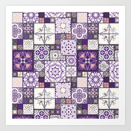Moroccan Tile Pattern III Art Print