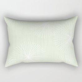 Dandelions in Mint by Friztin Rectangular Pillow