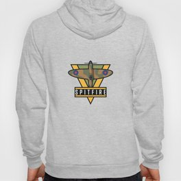 Spitfire WWII Fighter Aircraft - Brown Earth Hoody