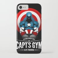 gym iPhone & iPod Cases featuring Capt's Gym by Corey Courts